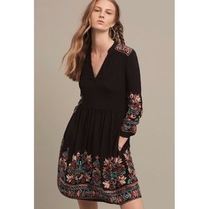 NWT Anthropologie embroidered Avery dress